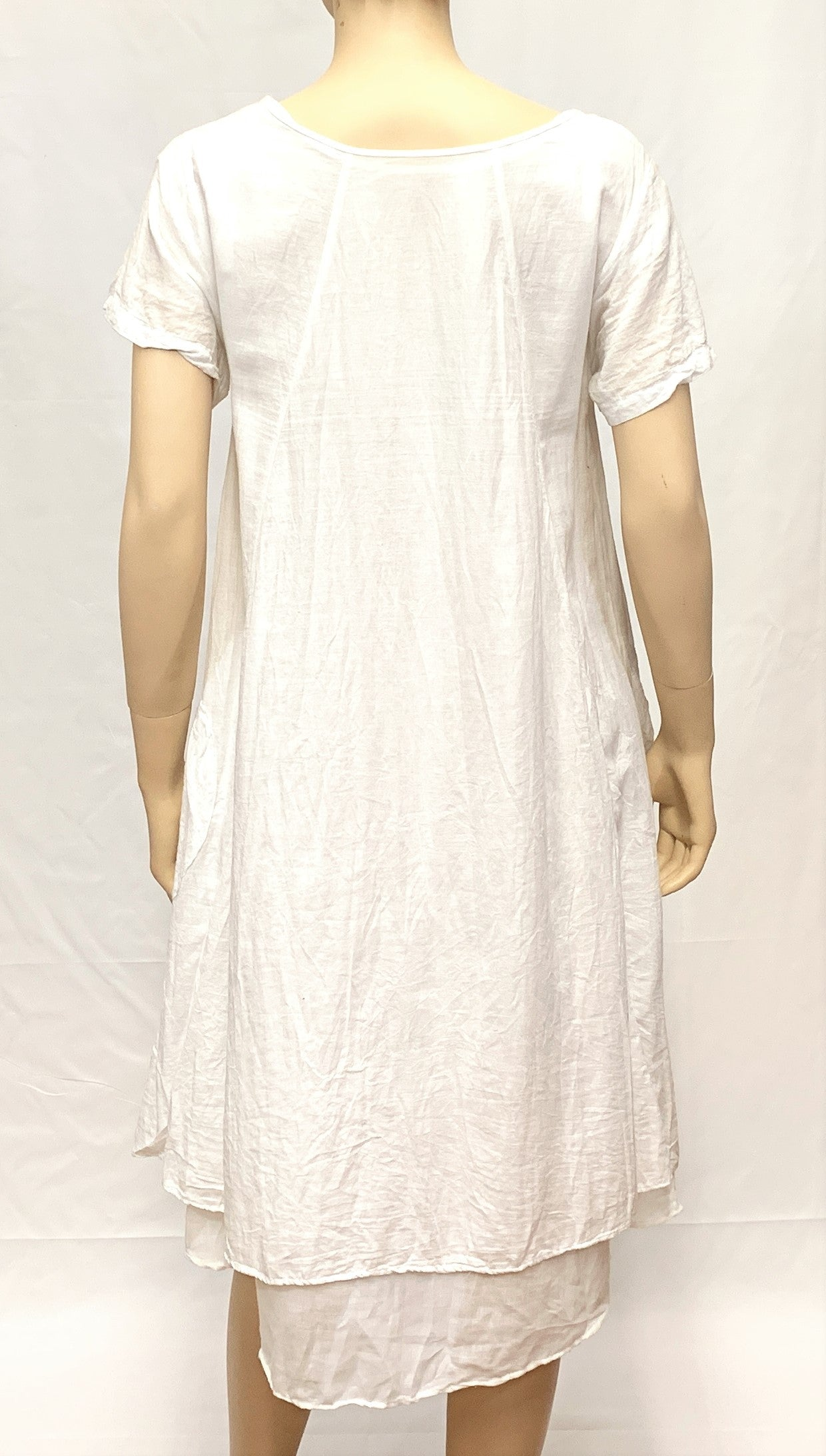 Half Sleeve Cotton Dress