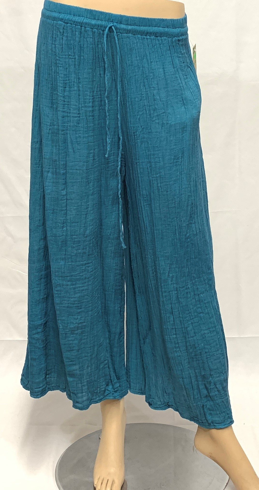 Ankle Cotton Crinkled Pant