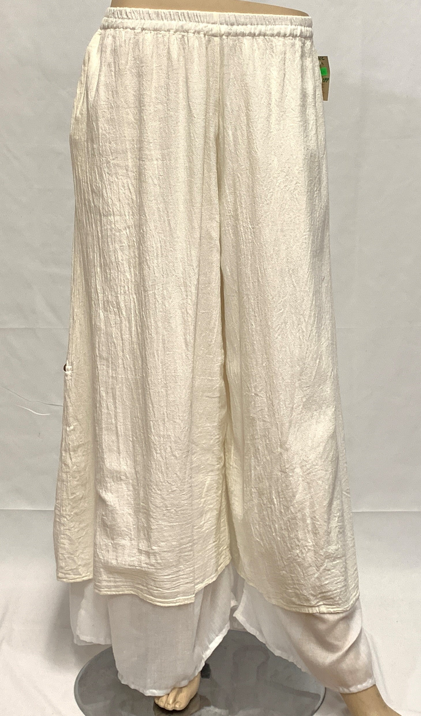 Crinkled Cotton Palazzo Pant