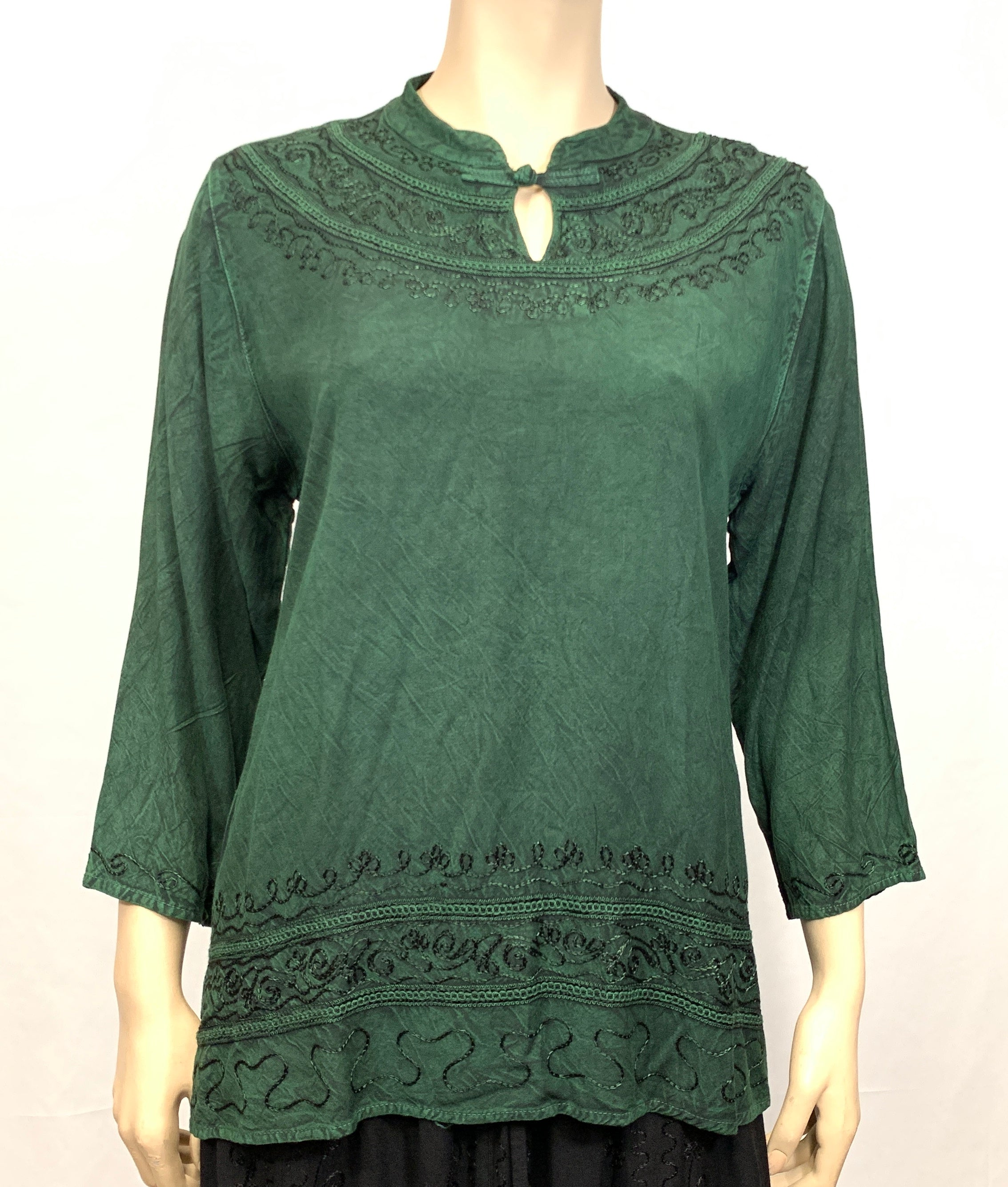 Rayon Round Jewel Neck