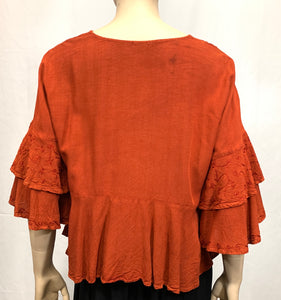 Rayon Short Flare Blouse