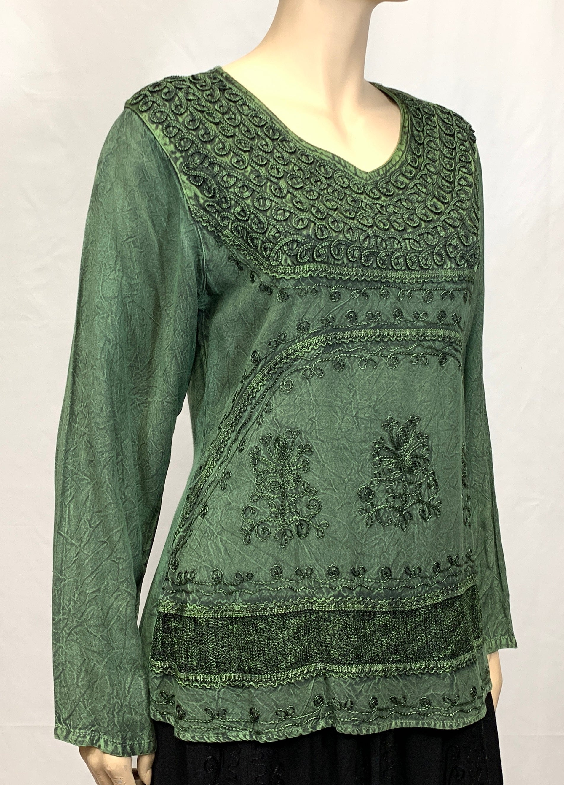 Rayon Top Fancy Embroidery