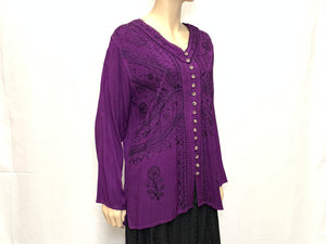 RAYON FANCY FULL/B BLOUSE