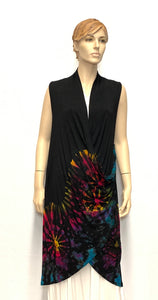 TYE DYE CARDIGAN SLEEVELESS
