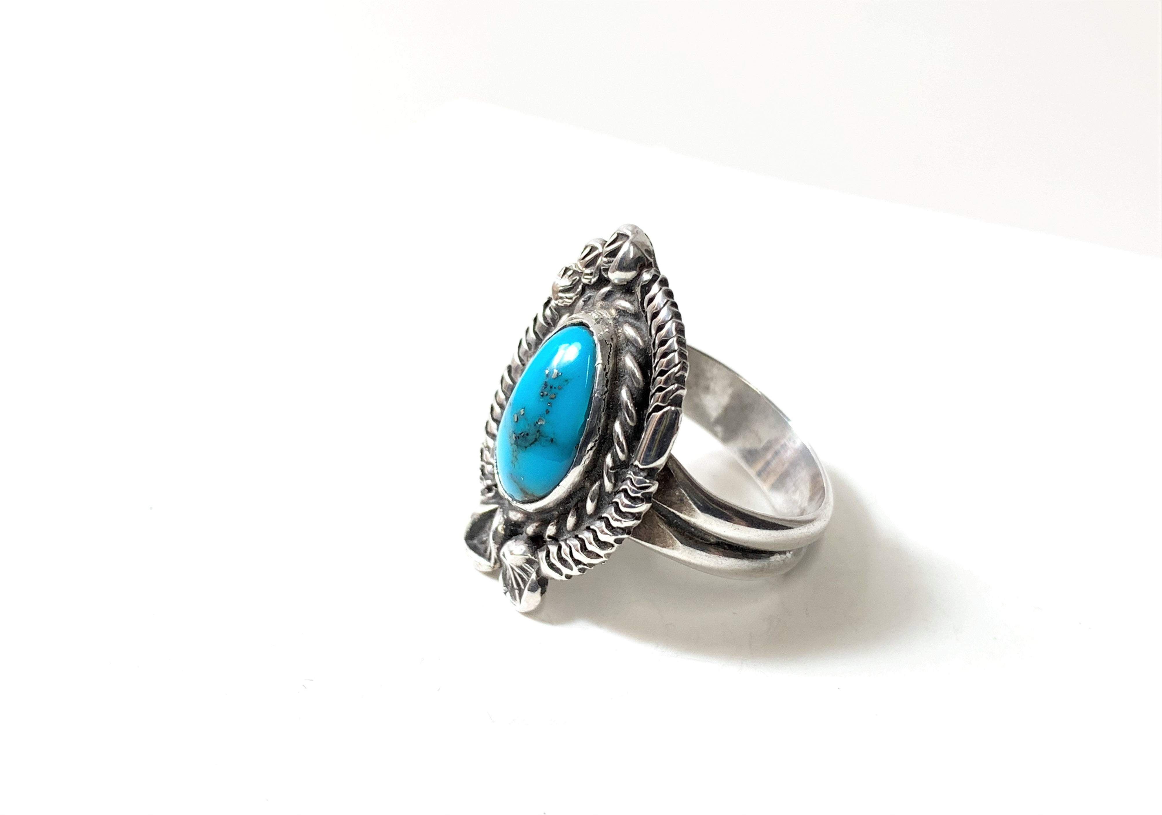 NATIVE ROSE TURQUOISE RING