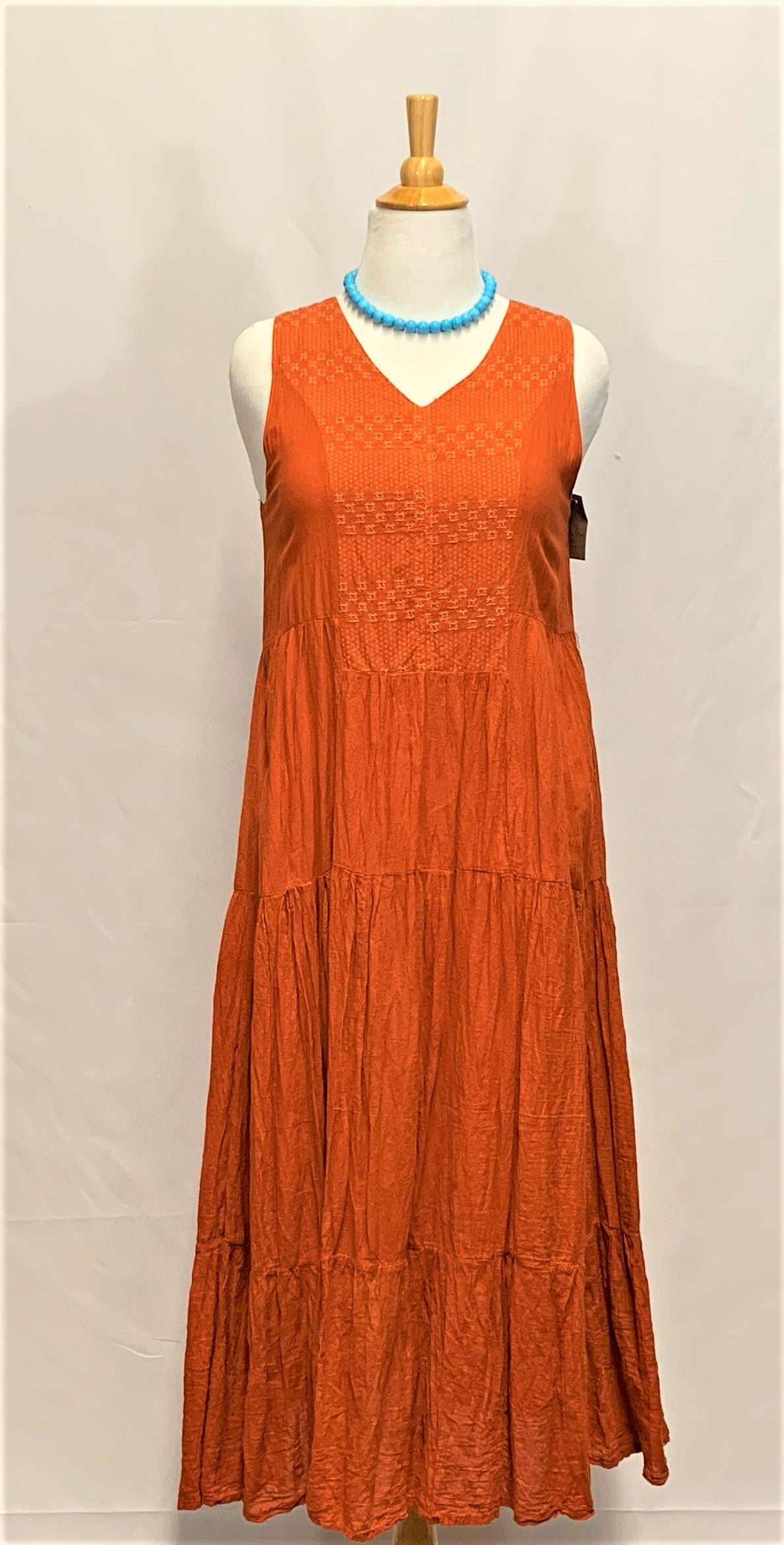 Boho Cotton V-Neck Dress