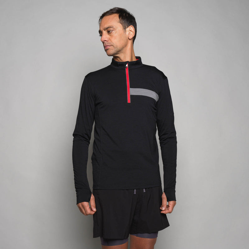 Men's Long Sleeve Merino Zip Top