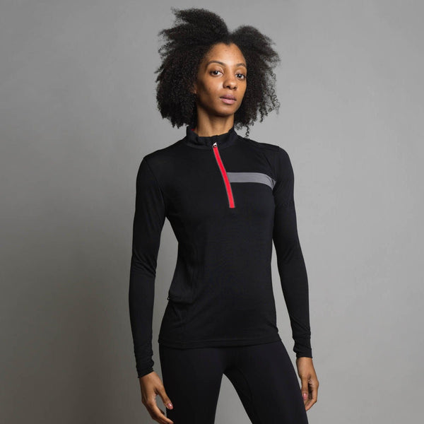 Women's Long Sleeve Merino Zip Top