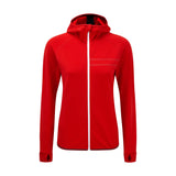 Womens Run Hooded Sweatshirt red