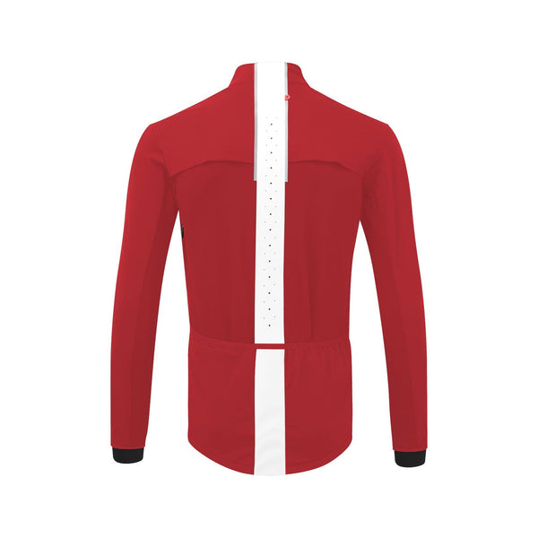 Mens Cycle Softshell Jacket red back
