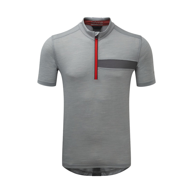 Men's Short Sleeve Merino Zip Top