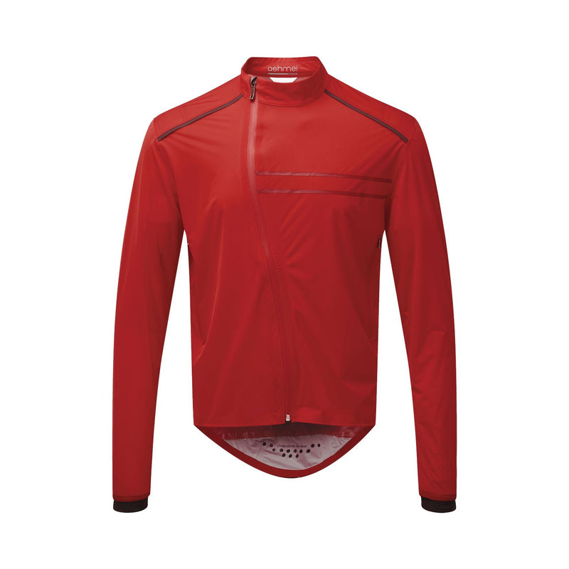 Mens Cycle Waterproof Jacket red front