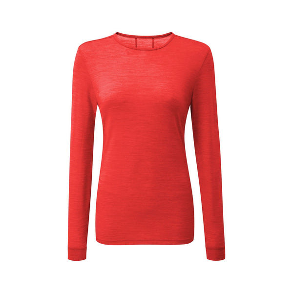 Womens Long Sleeve Baselayer red