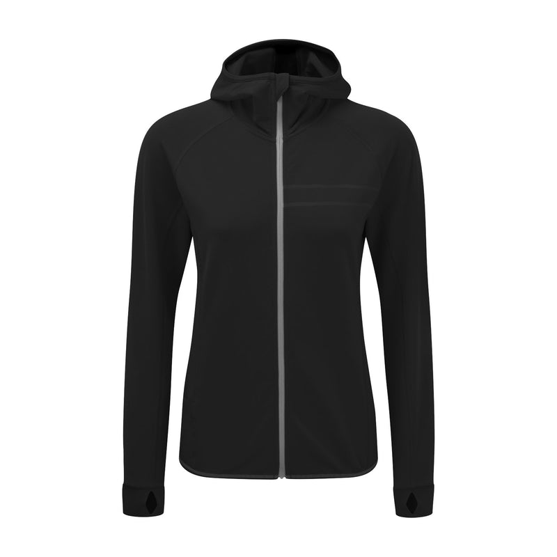 Womens Run Hooded Sweatshirt black