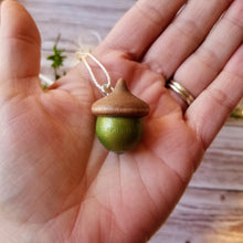 Load image into Gallery viewer, Wooden Acorn Ornament