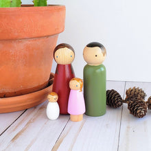 Load image into Gallery viewer, Simple Folk! Solid Color Custom Peg Dolls