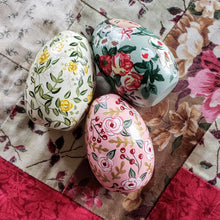 Load image into Gallery viewer, Yellow Floral Easter Egg, Baby Freya