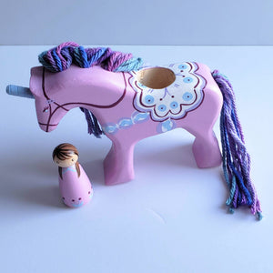 Dala Unicorn - Lavender with purple/blue mane