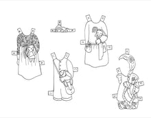 Load image into Gallery viewer, NEW printable paperdolls - Celebration of Handmade, Set 2