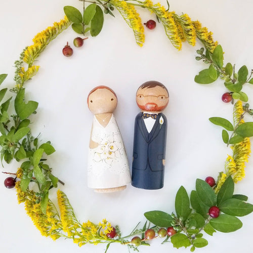 Wedding Cake Topper - My Pretty Peggy