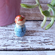Load image into Gallery viewer, CUSTOM Baby Loss, Miscarriage, Stillborn Gift, Angel Peg Doll - My Pretty Peggy