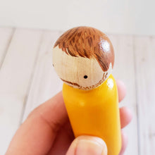 Load image into Gallery viewer, NEW!, Simple Folk, Custom Peg Dolls, Peg doll family - My Pretty Peggy
