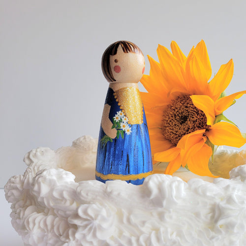 Peg Doll Cake Topper, Birthday Cake Topper - My Pretty Peggy