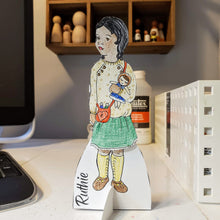 Load image into Gallery viewer, Paper Dolls, Printable, Celebration of Handmade - My Pretty Peggy