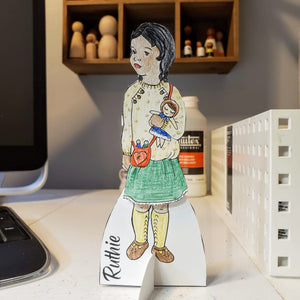 Paper Dolls, Printable, Celebration of Handmade - My Pretty Peggy