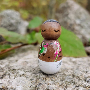 CUSTOM Baby Loss, Miscarriage, Stillborn Gift, Angel Peg Doll - My Pretty Peggy