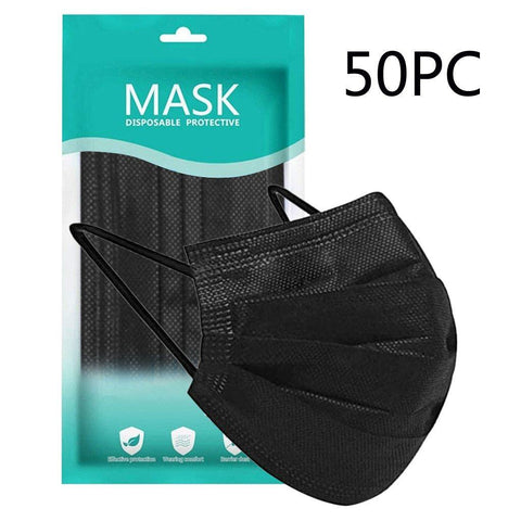 Black Mask 3Ply (50 Pieces/Box) - AXEFIT.CO