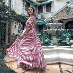 Embroidered Kanchali Floor Length With Dupatta - Ambraee