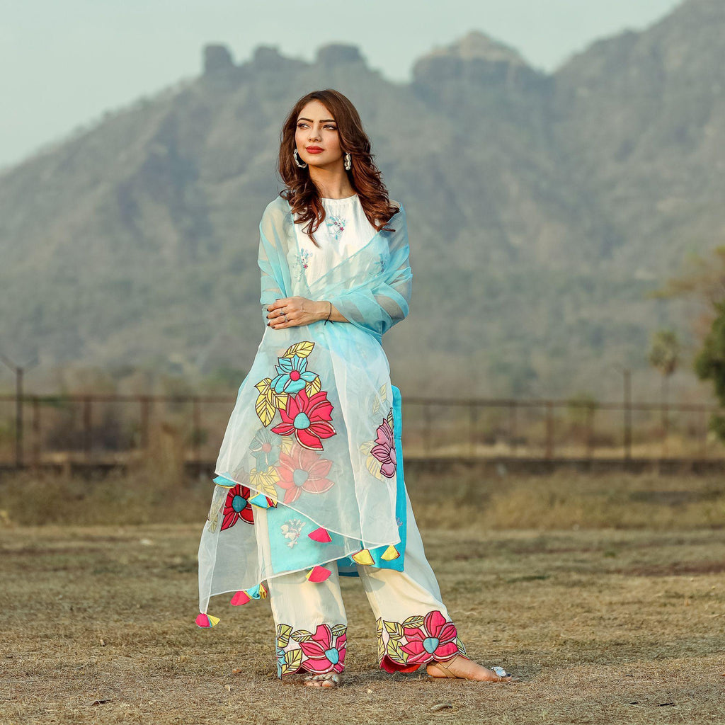 Multicolour Patchwork Suit - Ambraee