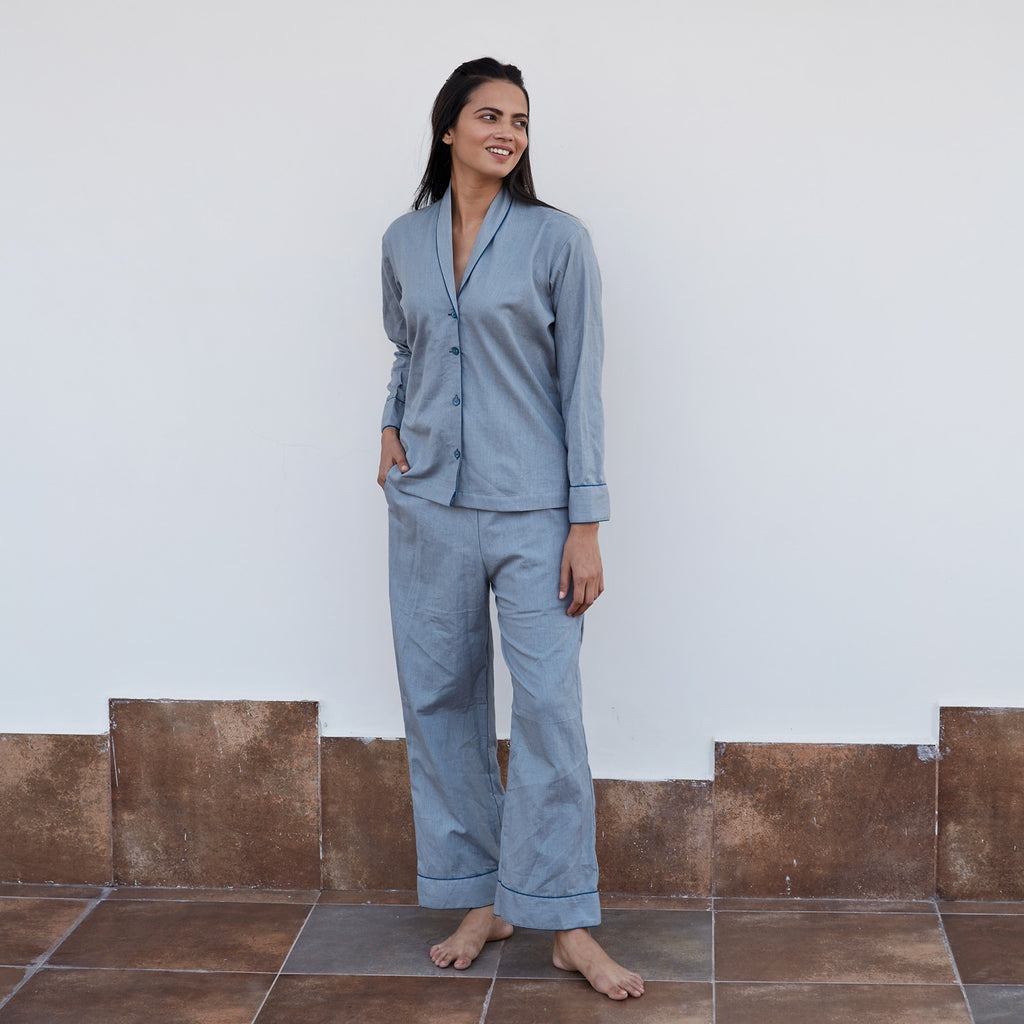 Grey Flex Night Suit
