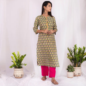 Saugat Kurta Set - Printed Green