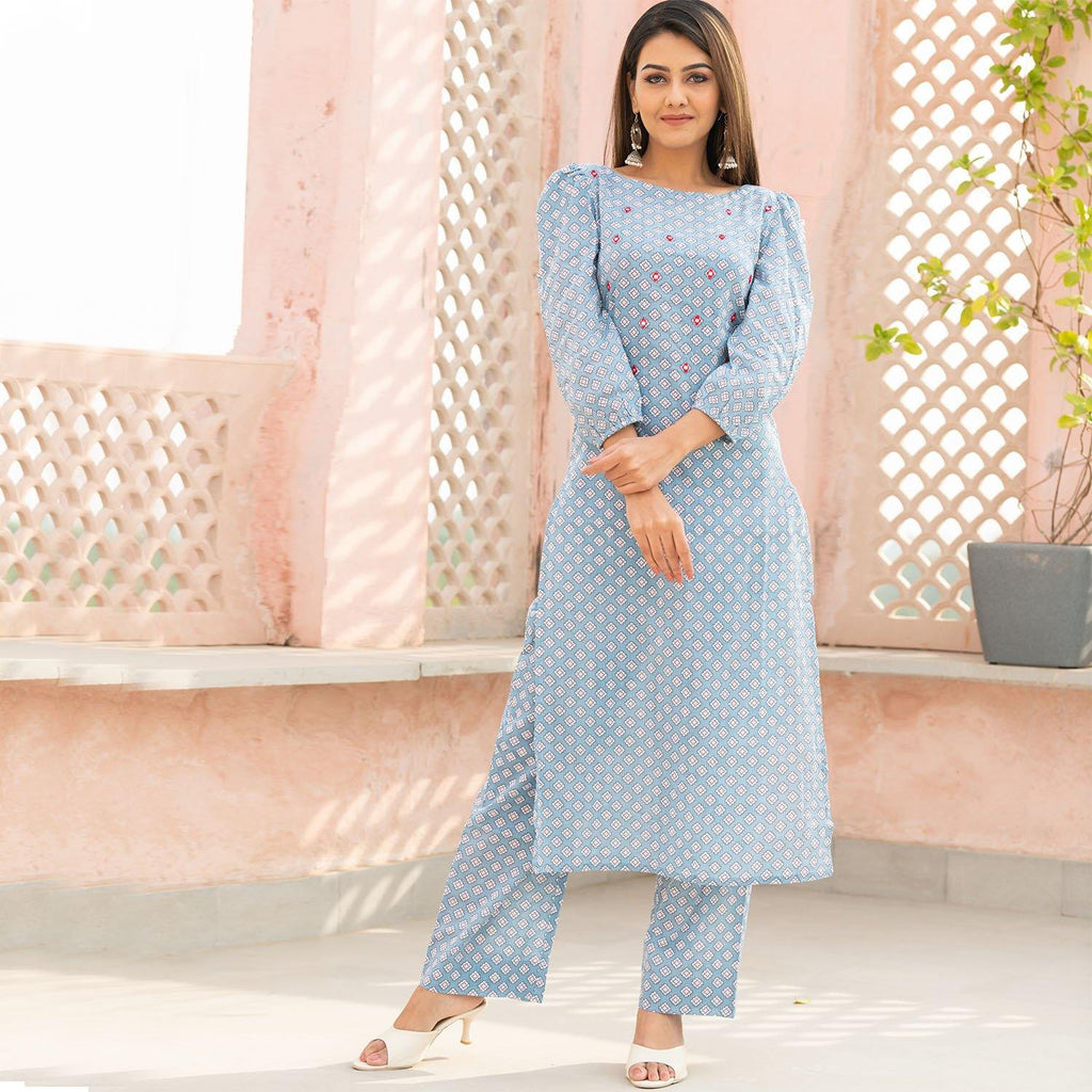 Astric Sheesha Kurta Set - Ambraee