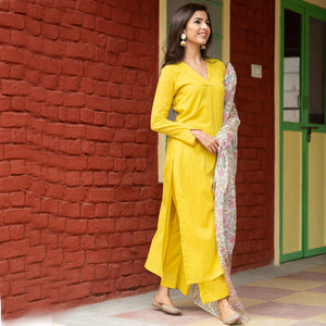 Latest Design Olive Doria Dupatta Suit Set For Women - Ambraee