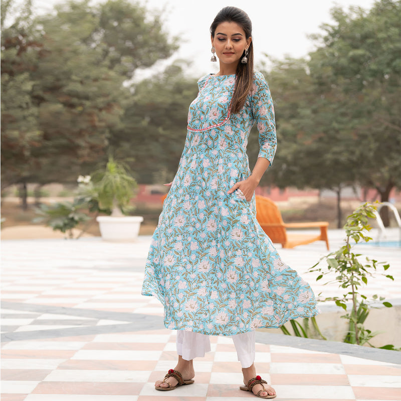 Sky Blue Taj Kurta Set