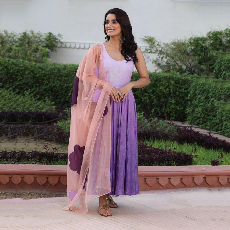 Purple Ombre Suit - Ambraee
