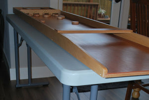 "Narrow Sjoelbak Table 72"" L x 18"" W x 30"" H"