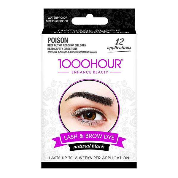 1000Hour - Enhance Beauty - Lash & Brow Dye - Brush-in Gel (Natural Black)