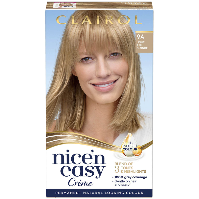 Nice'n Easy Crème Natural Looking Oil Infused Permanent Hair Dye 177ml (9A - Light Ash Blonde)