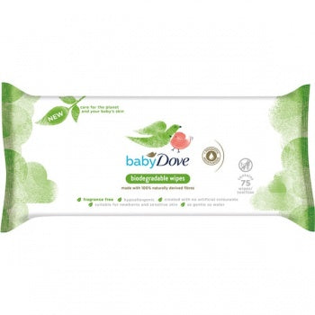 Baby Dove Biodegradable (75 Wipes)