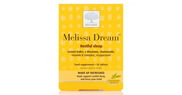 New Nordic Melissa dream. Herbal sleep aid. 20 Tablets.