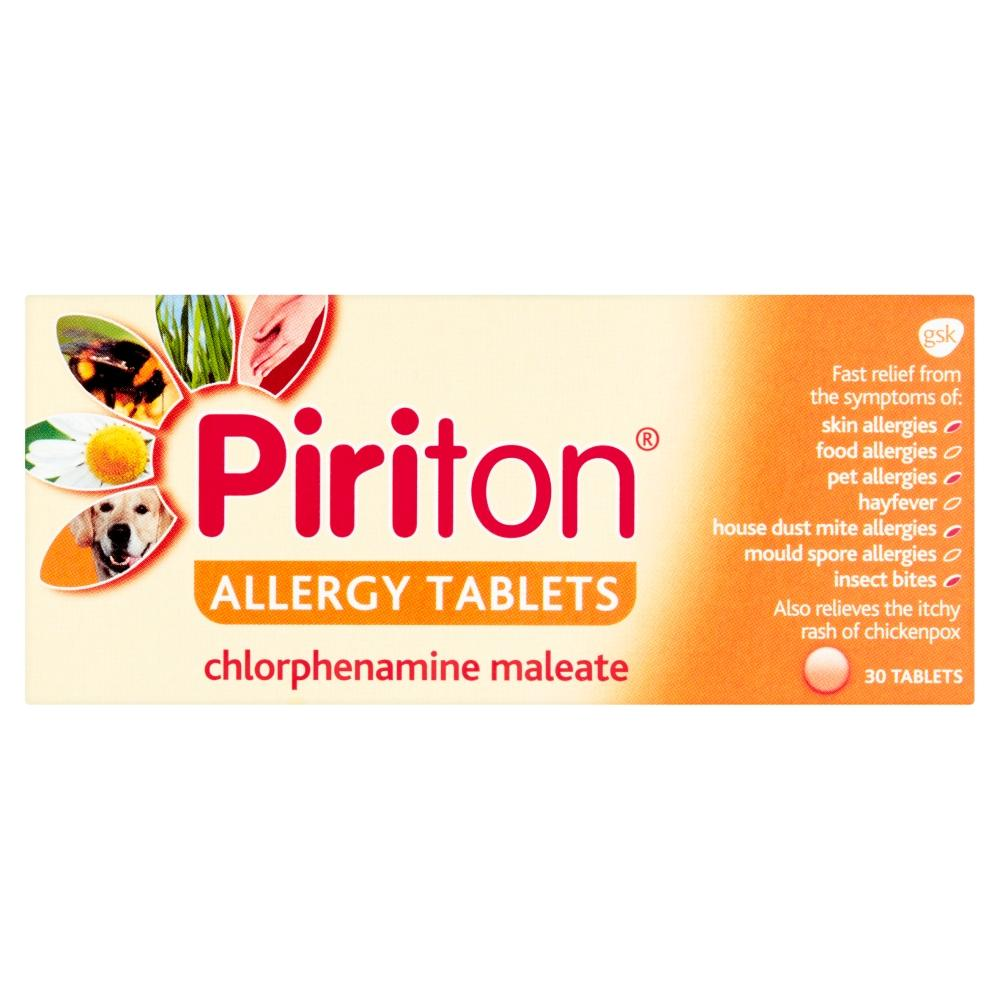 Piriton Allergy 4mg 30 Tablets