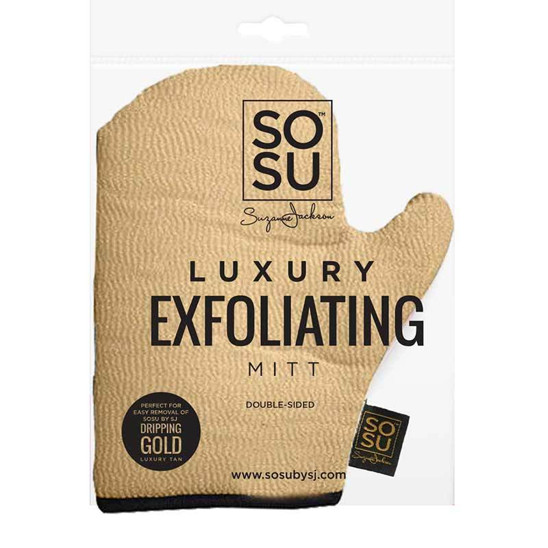 SOSU by Suzanne Jackson Dripping Gold Luxury Exfoliating Mitt