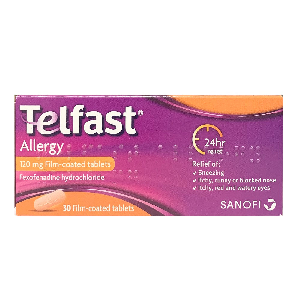 Telfast Allergy 120mg (30 Film-coated Tablets)