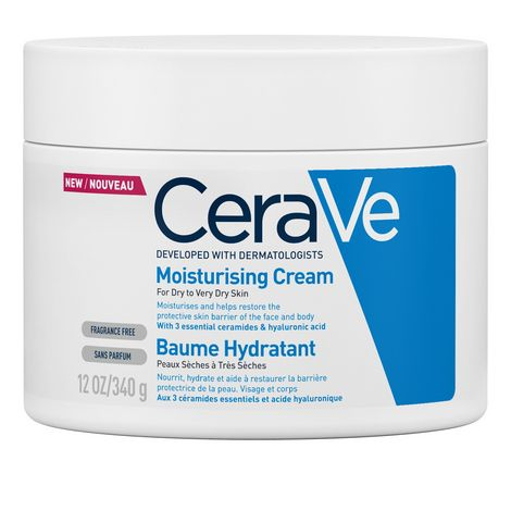 CeraVe - Moisturising Cream - For Dry to Very Dry Skin (Tub 340g)