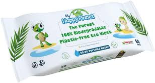 Happy Planet - Plastic Free Eco (60 Wipes)