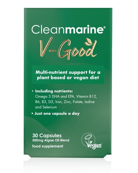 Cleanmarine V-Good 500mg Vegan Supplement (30 Capsules)